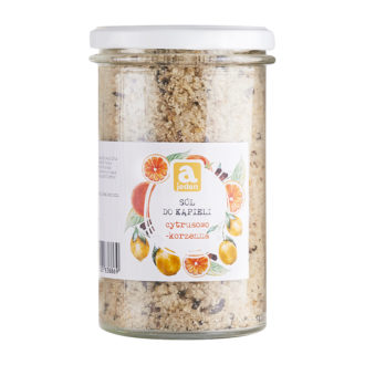 The citrus spice bath salt